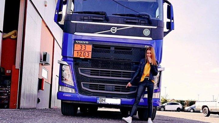 Motivul pentru care o moldoveancă de 24 de ani a decis să devină șoferiță de camion, în România