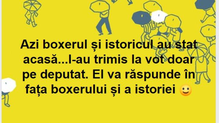 Octavian Ţîcu: Azi, boxerul şi istoricul au stat acasă... La vot a mers deputatul