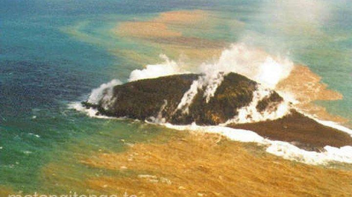 O erupţie vulcanică a creat o nouă insulă în Arhipelagul Tonga