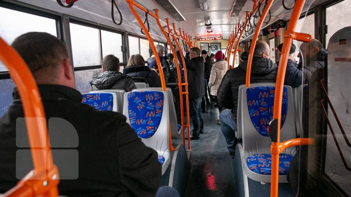 POZA ZILEI. Ce a surprins un pasager într-un troleibuz din Capitală (FOTO)