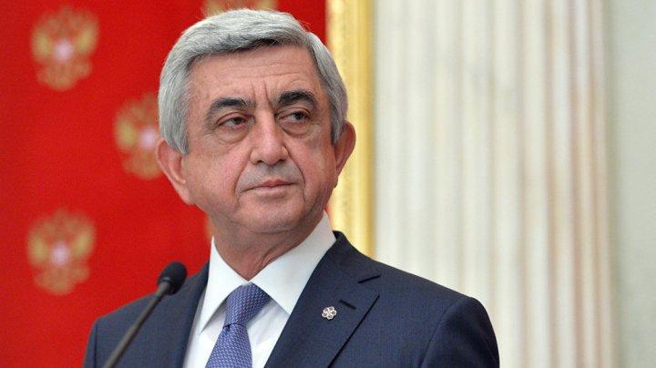 Fostul preşedinte al Armeniei Serj Sargsyan, inculpat pentru deturnare de fonduri