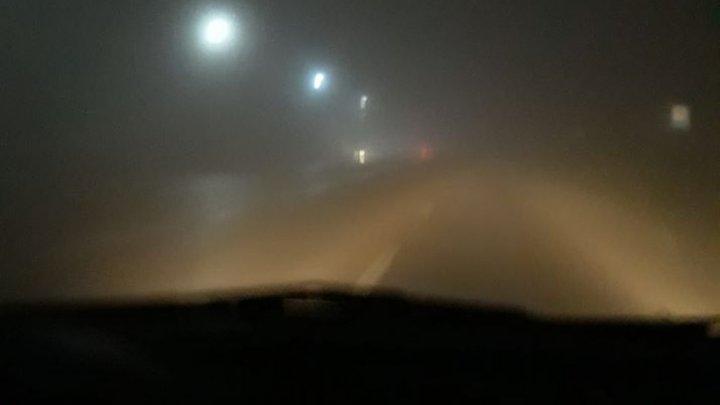 Ceață densă la Peresecina. Se circulă cu dificultate (FOTO)