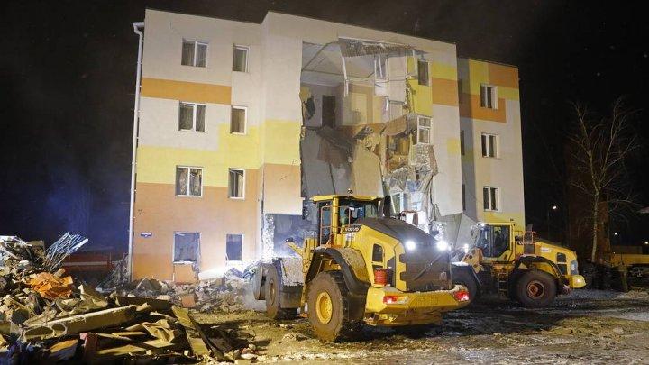 O explozie de proporţii a distrus un bloc locativ din regiunea Belgorod