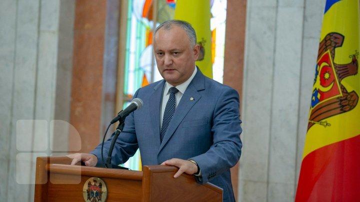 Igor Dodon îi răspunde lui Klaus Iohannis: Noi stimăm fraţii de peste Prut