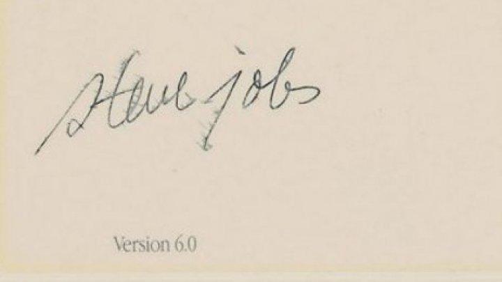 Suma impresionantă pentru care a fost vândut autograful lui Steve Jobs