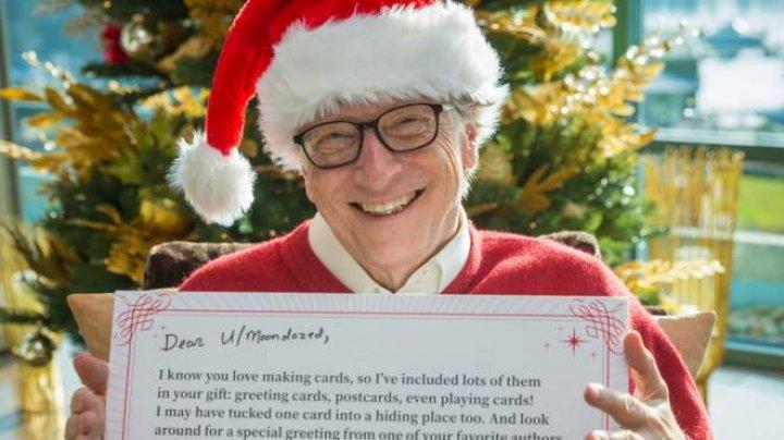 O tânără din SUA a primit cadou de Secret Santa chiar de la Bill Gates. Ce i-a adus Moș Crăciun (VIDEO)