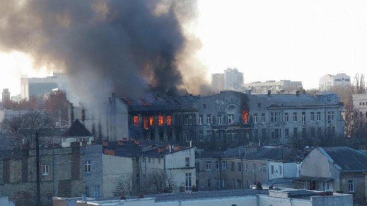 Bilanţul incendiului din Odesa: 16 morţi, directoarea arestată