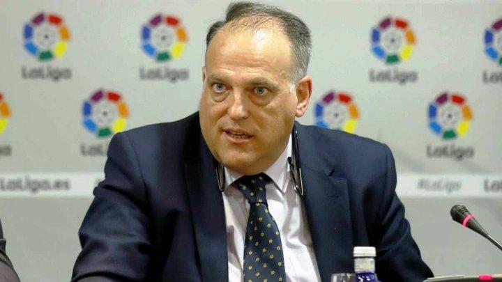 Javier Tebas, preşedintele Ligii Spaniole de Fotbal, a demisionat din funcţie pentru a candida la un nou mandat