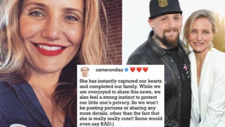 Cameron Diaz şi muzicianul Benji Madden au anunţat că au devenit părinţi