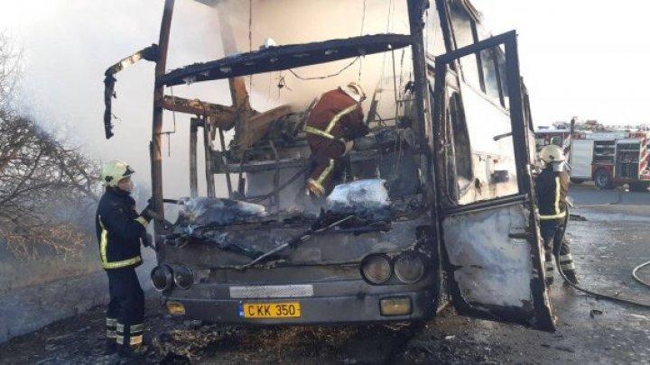 DETALII NOI despre autocarul cuprins de flăcări. La bord erau 37 de COPII (VIDEO)