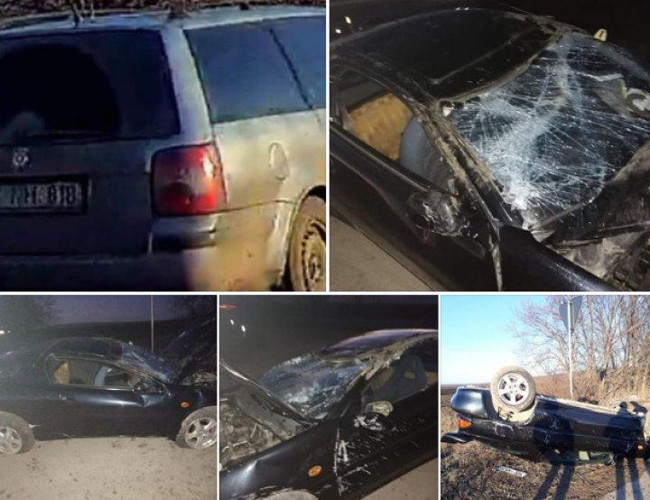 ACCIDENT GRAV în raionul Floreşti, provocat de un şofer teribilist. O maşină s-a răsturnat într-un şanţ (FOTO)