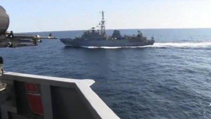 """Incident în Marea Arabiei. O navă militară rusă s-a apropiat """"în mod agresiv"""" de un distrugător al SUA (VIDEO)"""