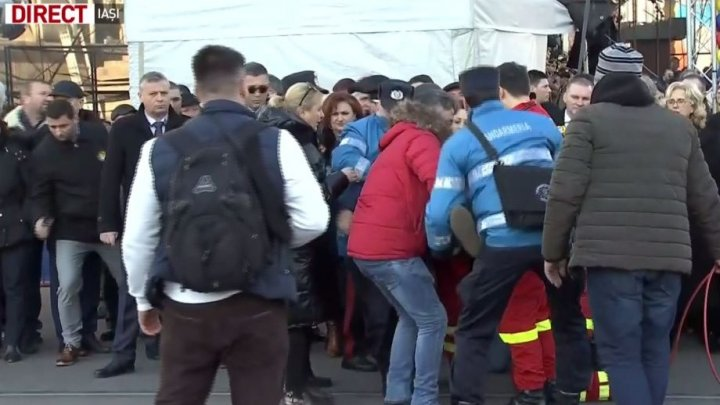 Incident la Iași, la manifestările organizate cu ocazia Unirii Principatelor Române: O persoană a leșinat