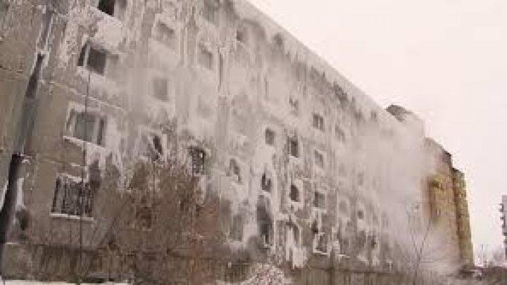 Un bloc din Rusia a îngheţat după ce instalaţia termică a clădirii a cedat