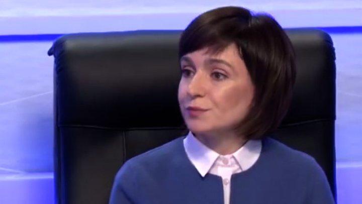 Maia Sandu nu vrea să-şi părăsească partidul pentru a fi un candidat unic apartinic al dreptei la prezidenţiale