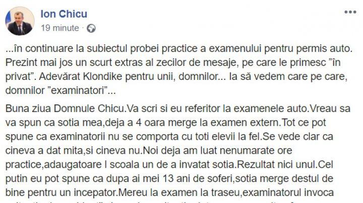 """""""Aşa preţuri la permis, ca în Hânceşti, nu există nicăieri. Pentru o literă, 500 de EURO"""". Premierul a publicat mesajele primite de la cetăţeni"""