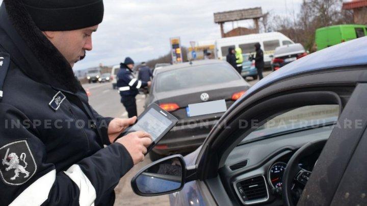 RAZII la intrarea în Orhei. Un şofer a făcut peste 30 de încălcări