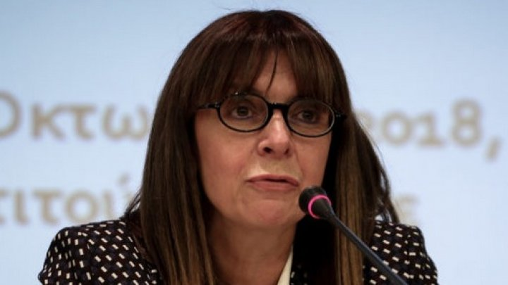 Ekaterini Sakellaropoulou, prima femeie aleasă în funcţia de preşedinte al Greciei