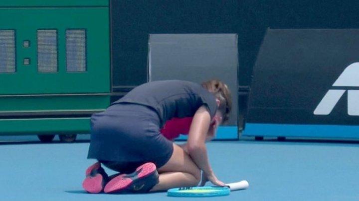 O jucătoare de tenis de la Australian Open, îngenuncheată de fumul provocat de incendiile de vegetație (VIDEO)