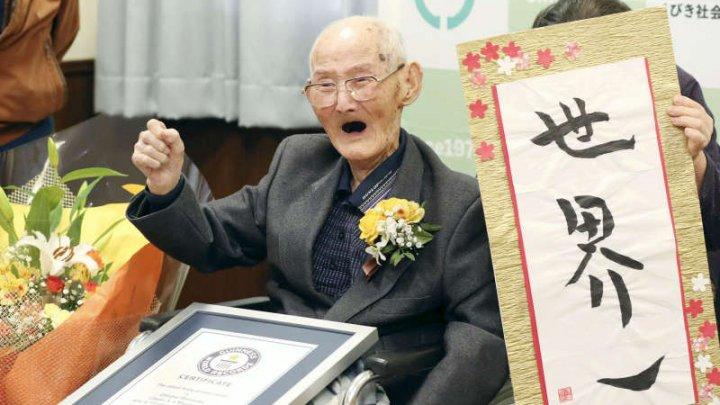 Japonezul în vârstă de 112 de ani recunoscut drept cel mai vârstnic bărbat din lume a murit