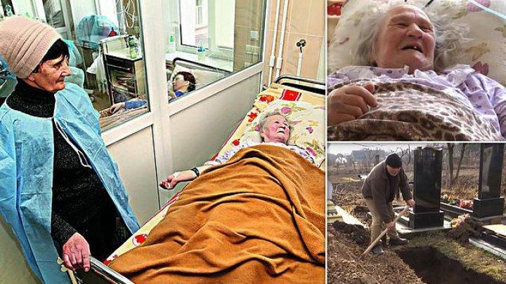 MIRACULOS! O femeie din Ucraina a revenit la viață la zece ore după ce i-a fost declarat decesul. Familia îi săpase deja mormântul