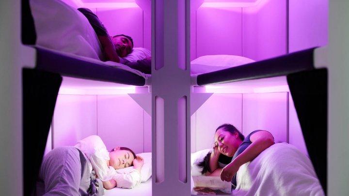 O companie aeriană vrea să introducă cuşete cu paturi la clasa economy