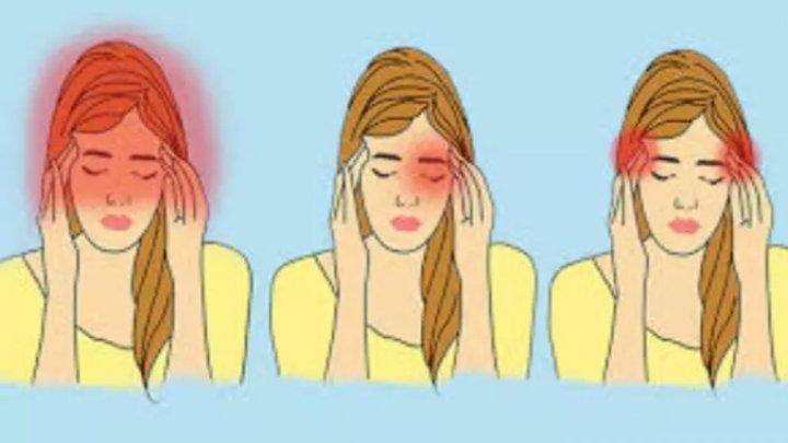 ESTE BINE SĂ ŞTII! Află ce afecțiuni ai în funcție de tipul durerii de cap: tâmple, frunte sau ceafă