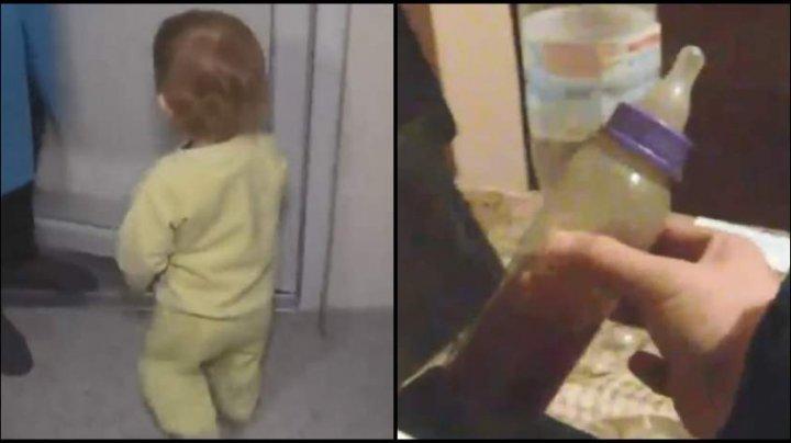 Mamă monstru: O fetiţă, găsită abandonată în frig şi cu un biberon plin cu votcă lângă ea