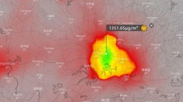 SCENARIU SUMBRU: Substanţa găsită de sateliţi în Wuhan, orașul în care a izbucnit coronavirusul