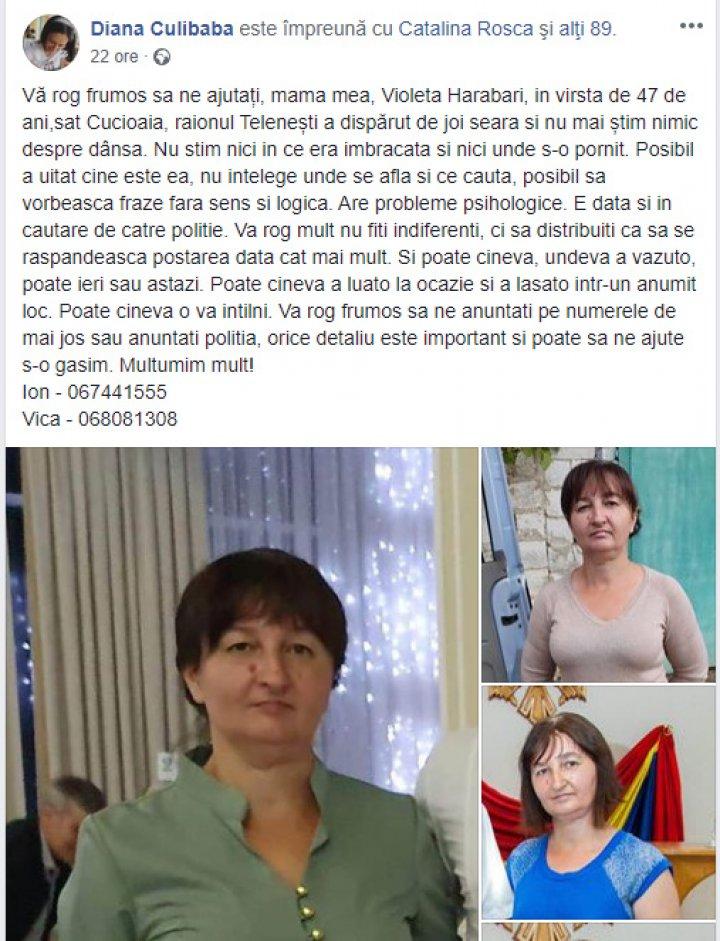 O tânără îşi caută cu disperare mama, dispărută acum trei zile