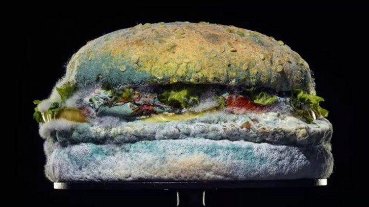 """""""Frumuseţea de a nu folosi conservanţi"""". Un hamburger cu mucegai, noua reclamă a unui lanţ de restaurante fast-food (VIDEO)"""