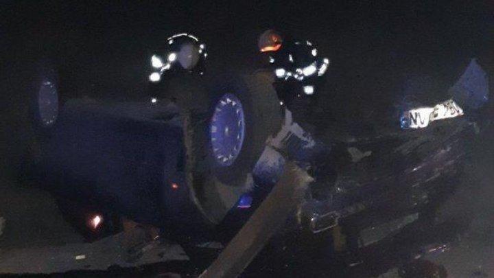 Accident violent pe traseul M2. Şoferul unui BMW a fost rănit