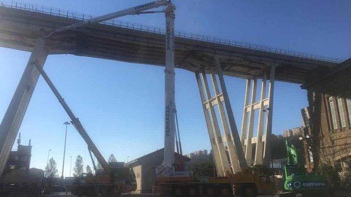 Noul pod din Genova, care va înlocui viaductul Morandi, prăbuşit în urma unei furtuni puternice, e gata în proporție de 80 la sută