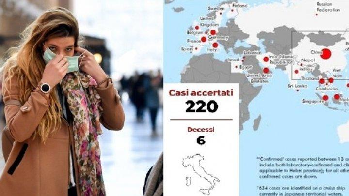 Coronavirus: Italia anunţă al şaptelea deces în urma epidemiei din nordul ţării