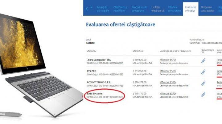 Secretariatul Parlamentului a evaluat ofertele pentru achiziția de tablete, în valoare de peste 2 MILIOANE DE LEI
