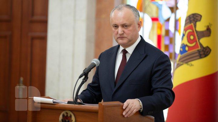 Dodon, apel către opoziţie înainte de şedinţa Parlamentului