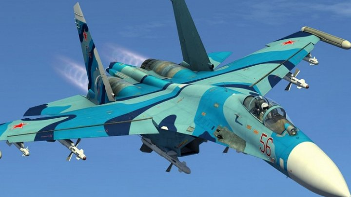Un avion de vânătoare rusesc Su-27 s-a prăbuşit în Marea Neagră