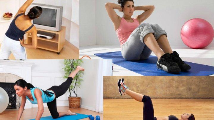 Ce exerciţii fizice să facem acasă, în izolare