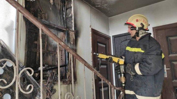 Incendiu într-un bloc de locuit din Durlești. Toți locatarii au fost evacuați