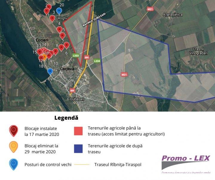 Promo-Lex, apel public cu privire la lichidarea impedimentelor în libera circulație instalate ilegal în localitățile Corjova și Cocieri (FOTO)