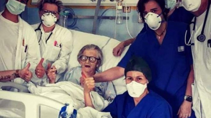 """Cel mai vârstnic pacient din Italia care s-a vindecat de COVID-19: """"Da, sunt bine. Mă trimit acasă"""""""
