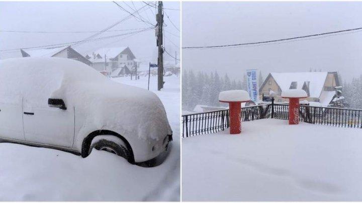 NINGE peste Prut. Județul în care stratul de zăpadă măsoară 40 de centimetri