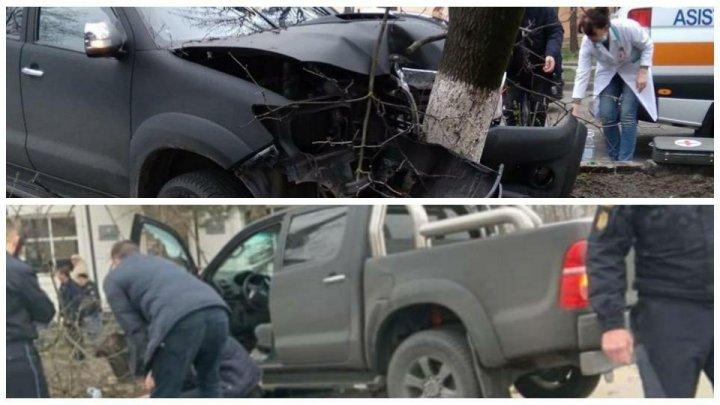 ACCIDENT GRAV în faţa Academiei de Poliție din Capitală. Ambulanţa, la faţa locului (FOTO)