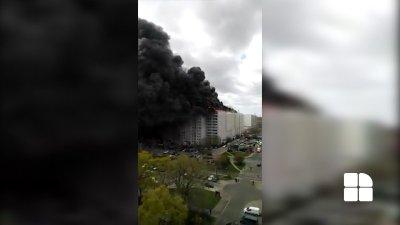Incendiu violent la Berlin. Ard două blocuri (VIDEO)