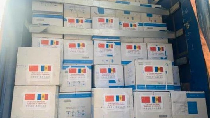 Ministerul Sănătății a primit 3 tone de ajutor umanitar din partea Chinei. Echipamentele vor fi distribuite în spitalele unde se tratează pacienții cu COVID-19