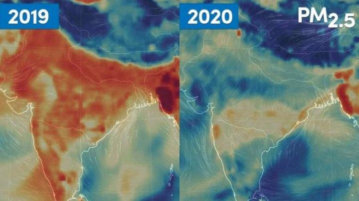 Nivelul poluării a scăzut semnificativ în India după instituirea carantinei