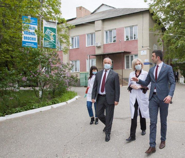 Igor Dodon: Situația epidemiologică din raionul Drochia este una dintre cele mai bune din țară