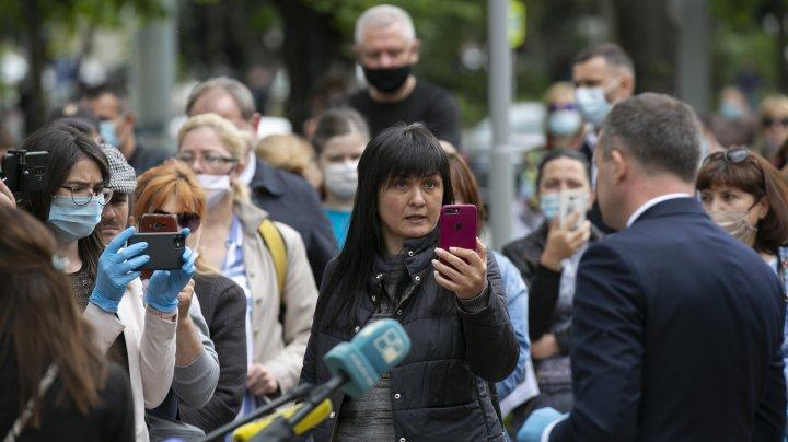 Protestul reprezentanţilor businessului mic şi mijlociu (FOTOREPORT)