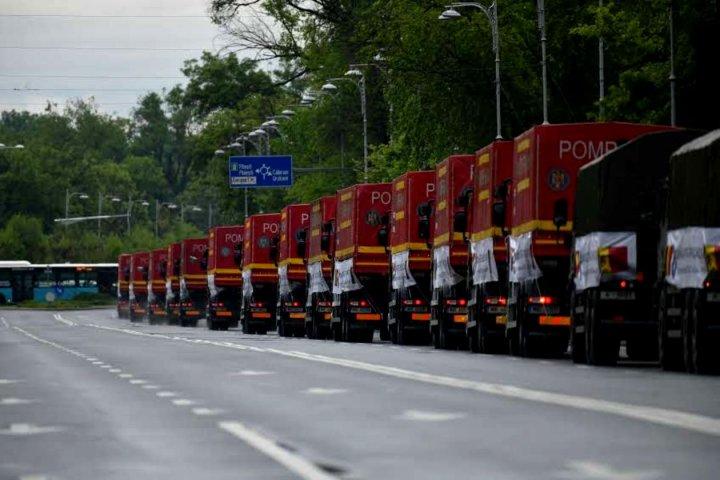 Convoiul umanitar românesc a pornit de la București spre Moldova (FOTO/VIDEO)