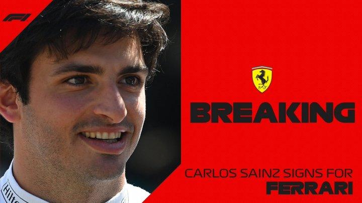 Schimbări importante în Formula 1! Carlos Sainz va concura pentru Ferrari în 2021